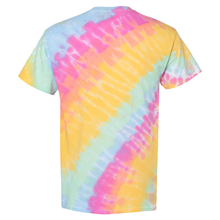 Load image into Gallery viewer, GTS Sunshine Daydream Tilt Tie Dye Liquid Swirl Hand Dyed T-Shirt Back