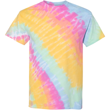Load image into Gallery viewer, GTS Sunshine Daydream Tilt Tie Dye Liquid Swirl Hand Dyed T-Shirt Front