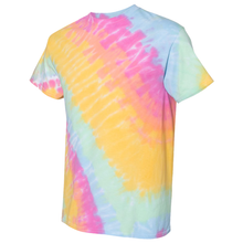 Load image into Gallery viewer, GTS Sunshine Daydream Tilt Tie Dye Liquid Swirl Hand Dyed T-Shirt Side