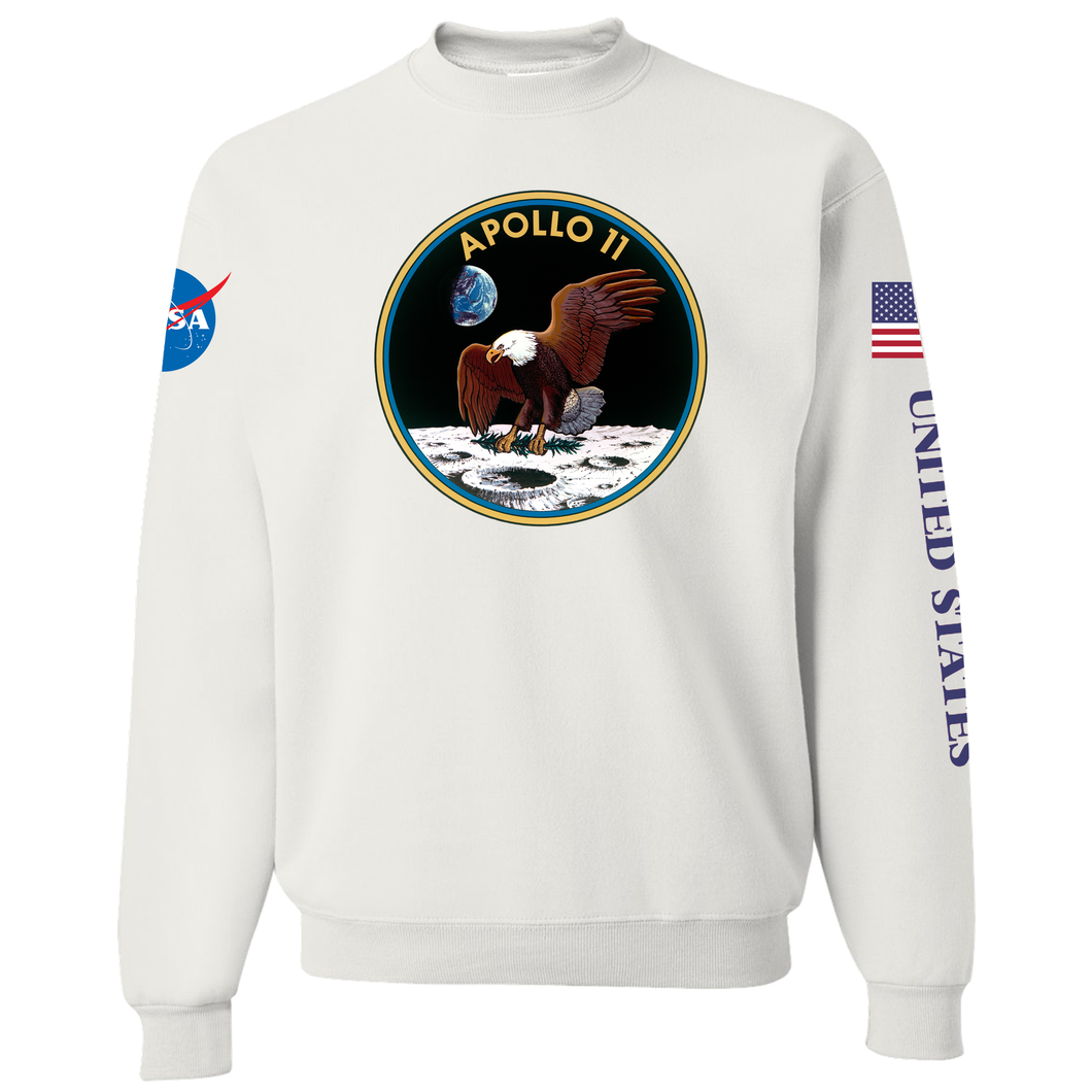NASA Apollo 11 Custom Crewneck Sweater - Front