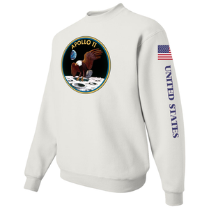 NASA Apollo 11 Custom Crewneck Sweater -  Left Side