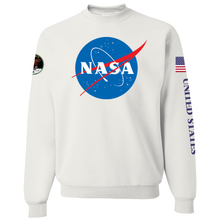 Load image into Gallery viewer, NASA Insignia Apollo Patch Custom Crewneck Sweater - Front