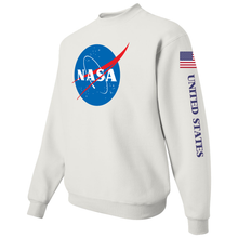 Load image into Gallery viewer, NASA Insignia Apollo Patch Custom Crewneck Sweater - Left Side