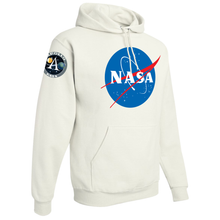 Load image into Gallery viewer, NASA Insignia Apollo Program White Pullover Hoodie Sweatshirt - Right Side