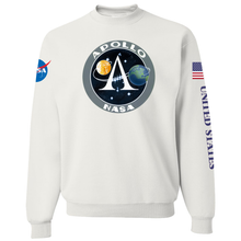 Load image into Gallery viewer, NASA Apollo Project Insignia Custom Crewneck Sweater - Front