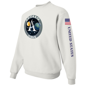 NASA Apollo Project Insignia Custom Crewneck Sweater -  Left Side