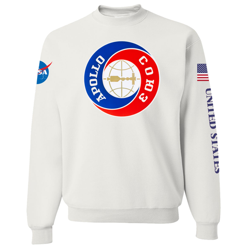 NASA Apollo Soyuz Custom Crewneck Sweater - Front