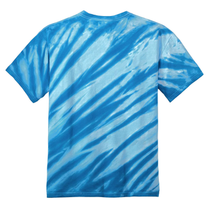OmniTee Arctic Flow Blue Liquid Flow Hand Dyed T-Shirt Back