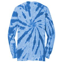 Load image into Gallery viewer, OmniTee Arctic Flow Tie Dye Liquid Pinwheel Hand Dyed Long Sleeve Shirt Back