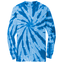 Load image into Gallery viewer, OmniTee Arctic Flow Tie Dye Liquid Pinwheel Hand Dyed Long Sleeve Shirt Front