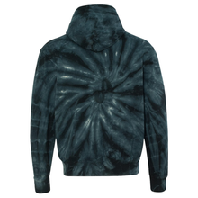 Load image into Gallery viewer, OmniTee Black Tie Dye Liquid Whirlwind Hand Dyed Hoodie Back