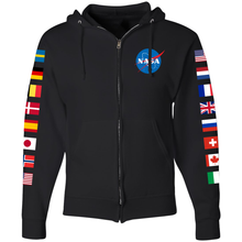 Load image into Gallery viewer, NASA International Space Station (ISS) Black FULL-ZIP Hoodie - Front