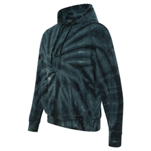 Load image into Gallery viewer, OmniTee Black Tie Dye Liquid Whirlwind Hand Dyed Hoodie Side