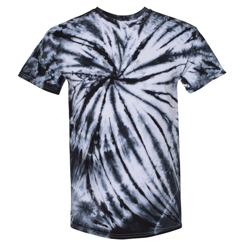 OmniTee Black Web Tie Dye Liquid Crystals Hand Dyed T-Shirt Front
