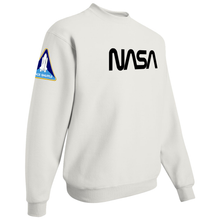 Load image into Gallery viewer, NASA Black Worm Logo Shuttle Patch Crewneck Sweater - Right Side
