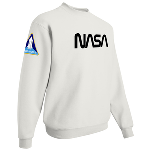 NASA Black Worm Logo Shuttle Patch Crewneck Sweater - Right Side