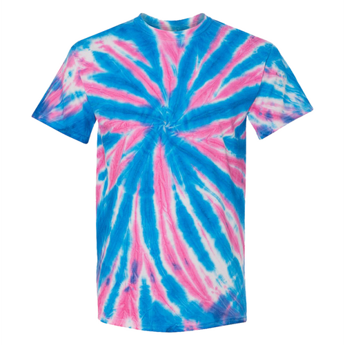 GTS Blue Bubblegum Tie Die Liquid Starfish Hand Dyed T-Shirt