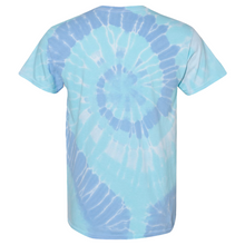 Load image into Gallery viewer, GTS Blue Dream Tie Die Liquid Cyclone Hand-Dyed T-Shirt Back