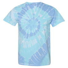 Load image into Gallery viewer, GTS Blue Dream Tie Die Liquid Cyclone Hand-Dyed T-Shirt