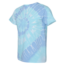 Load image into Gallery viewer, GTS Blue Dream Tie Die Liquid Cyclone Hand-Dyed T-Shirt Side