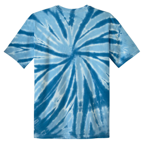 OmniTee Blue Glacier Liquid Pinwheel Hand Dyed Youth T-Shirt Back