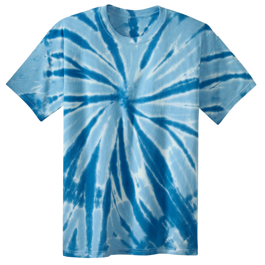 OmniTee Blue Glacier Liquid Pinwheel Hand Dyed Youth T-Shirt Front