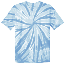 Load image into Gallery viewer, OmniTee Blue Ice Liquid Pinwheel Hand Dyed Youth T-Shirt Back