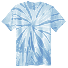 Load image into Gallery viewer, OmniTee Blue Ice Liquid Pinwheel Hand Dyed Youth T-Shirt Front