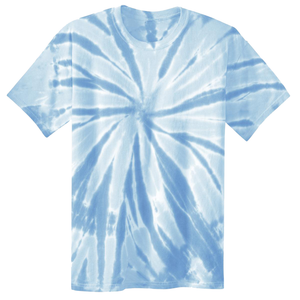 OmniTee Blue Ice Liquid Pinwheel Hand Dyed Youth T-Shirt Front