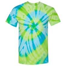 Load image into Gallery viewer, GTS Blue Lime Tie Die Liquid Staircase Hand Dyed T-Shirt