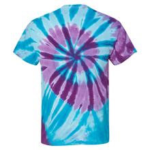 Load image into Gallery viewer, GTS Blue Sea Tie Die Liquid Staircase Hand Dyed T-Shirt Back