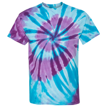 Load image into Gallery viewer, GTS Blue Sea Tie Die Liquid Staircase Hand Dyed T-Shirt