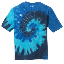 Load image into Gallery viewer, OmniTee Blue Torrent Liquid Tornado Hand Dyed Youth T-Shirt Back