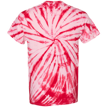 Load image into Gallery viewer, GTS Candy Red Tie Die Liquid Crystals Hand Dyed T-Shirt Back