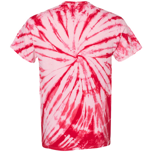 GTS Candy Red Tie Die Liquid Crystals Hand Dyed T-Shirt Back