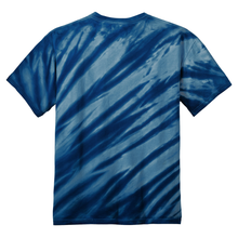 Load image into Gallery viewer, OmniTee Deep Ocean Blue Liquid Flow Hand Dyed T-Shirt Back