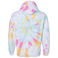 Load image into Gallery viewer, OmniTee Divine Daydream White Broken Spiral Tie Dye Hand Dyed Hoodie Back