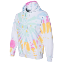 Load image into Gallery viewer, OmniTee Divine Daydream White Broken Spiral Tie Dye Hand Dyed Hoodie Side