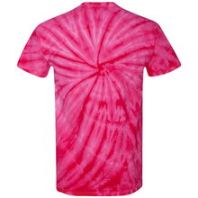 Load image into Gallery viewer, OmniTee Fuchsia Fusion Tie Dye Liquid Whirlwind Hand Dyed T-Shirt Back