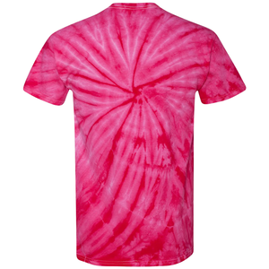 OmniTee Fuchsia Fusion Tie Dye Liquid Whirlwind Hand Dyed T-Shirt Back