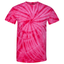 Load image into Gallery viewer, OmniTee Fuchsia Fusion Tie Dye Liquid Whirlwind Hand Dyed T-Shirt Front
