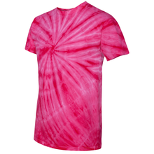 Load image into Gallery viewer, OmniTee Fuchsia Fusion Tie Dye Liquid Whirlwind Hand Dyed T-Shirt Side