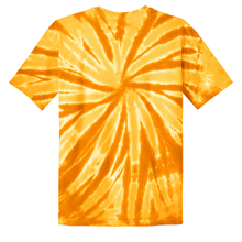 Load image into Gallery viewer, OmniTee Golden Gust Tie Dye Liquid Pinwheel Hand Dyed T-Shirt Back
