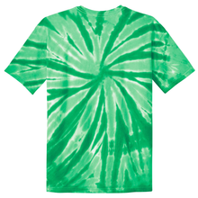 Load image into Gallery viewer, OmniTee Green Melon Liquid Pinwheel Hand Dyed Youth T-Shirt Back