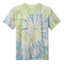 Load image into Gallery viewer, OmniTee Seafoam Green Swirl Liquid Tornado Hand Dyed Youth T-Shirt Back