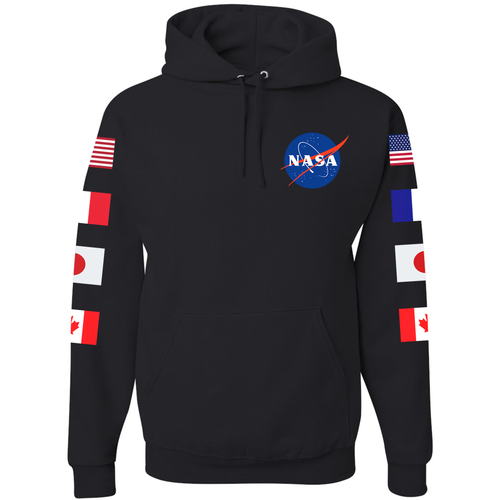 NASA Astronaut Group 15 Black PULLOVER Hoodie - Front