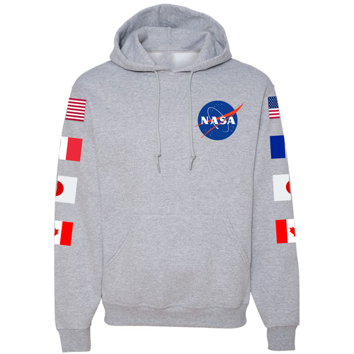 NASA Astronaut Group 15 Grey PULLOVER Hoodie - Grey