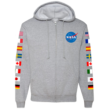 Load image into Gallery viewer, NASA Astronaut Group 16 Athletic Grey FULL-ZIP Hoodie - Front
