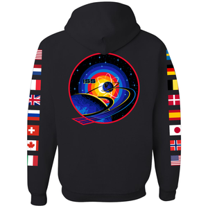 NASA International Space Station (ISS) Black FULL-ZIP Hoodie - Back