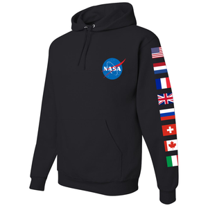 NASA International Space Station (ISS) Black - Left Sleeve